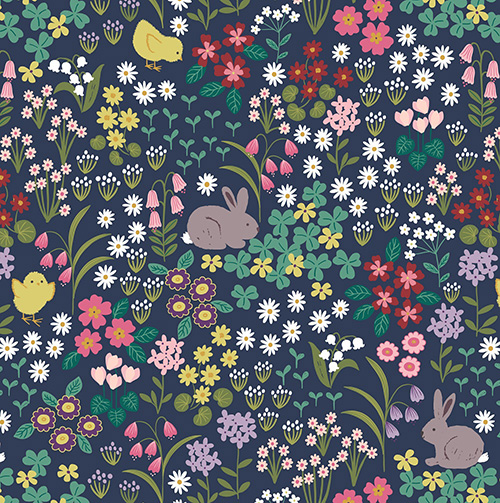Bunny Hop By Lewis & Irene For  - Dark Blue