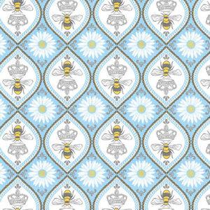 Queen Bee By Michael Miller - Blue