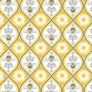 Queen Bee By Michael Miller - Yellow