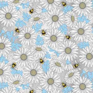 Queen Bee By Michael Miller - Grey
