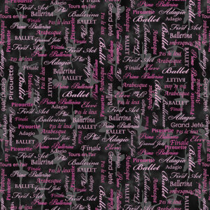 Pearl Ballet By Kanvas Studio For Benartex - Pink/Black