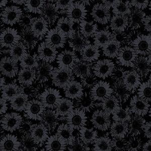 Sunflower Sunrise By Kanvas Studio For Benartex - Black