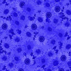 Sunflower Sunrise By Kanvas Studio For Benartex - Royal Blue