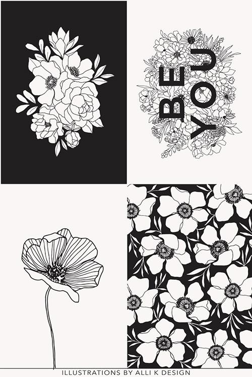 Illustrations Floral Panel 36
