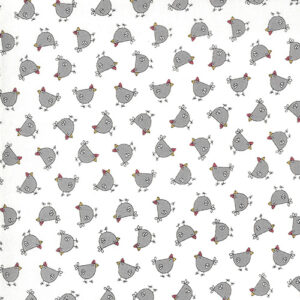 Spring Chicken By Sweetwater For Moda - Cream - Gray