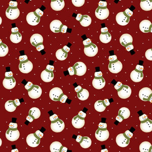Jingle Bell Flannel By Painted Sky Studio For Benartex - Red