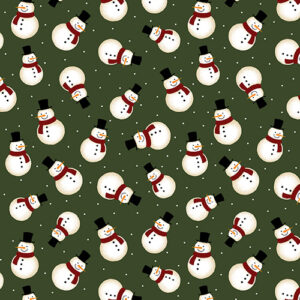 Jingle Bell Flannel By Painted Sky Studio For Benartex - Green