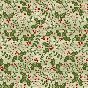 A Jingle Bell Christmas By Painted Sky Studio For Benartex - Light Green