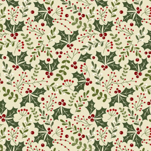 Jingle Bell Flannel By Painted Sky Studio For Benartex - Natural