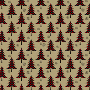 Jingle Bell Flannel By Painted Sky Studio For Benartex - Red/Tan
