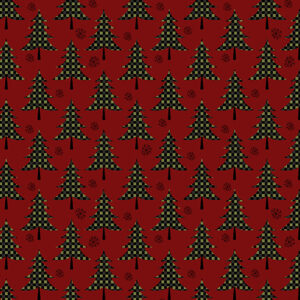 Jingle Bell Flannel By Painted Sky Studio For Benartex - Berry
