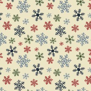 Jingle Bell Flannel By Painted Sky Studio For Benartex - Multi