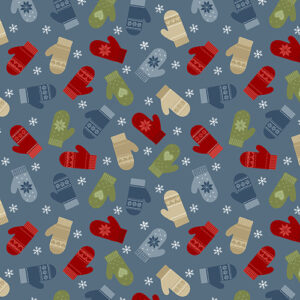 Jingle Bell Flannel By Painted Sky Studio For Benartex - Med. Blue