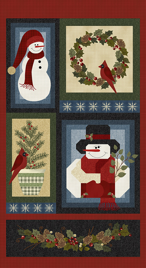 A Very Wooly Winter By Cheryl Haynes For Benartex - Multi - Panel