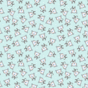 Snuggle In The Jungle Flannel By Jessica Flick For Benartex - Turquoise