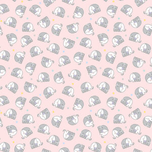 Snuggle In The Jungle Flannel By Jessica Flick For Benartex - Pink