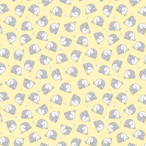 Snuggle In The Jungle Flannel By Jessica Flick For Benartex - Yellow