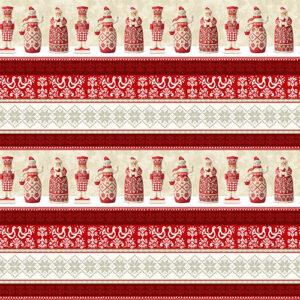Nordic Noel By Jim Shore For Benartex - Red/Multi