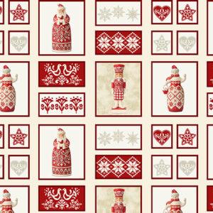 Nordic Noel By Jim Shore For Benartex - Cream