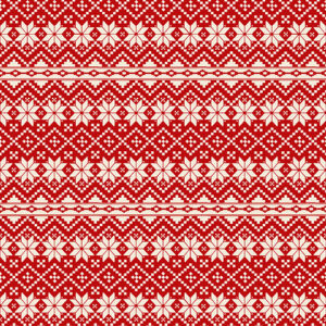 Nordic Noel By Jim Shore For Benartex - Red/Cream