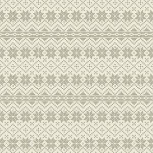 Nordic Noel By Jim Shore For Benartex - Cream/Grey