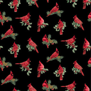 Winter Elegance By Jackie Robinson For Benartex - Black