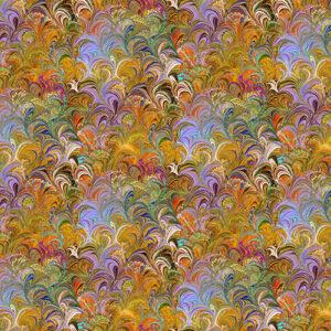 Poured Color By Paula Nadelstern For Benartex - Orange/Multi