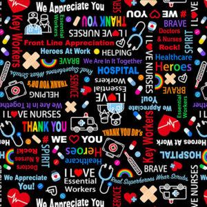 We Appreciate You By Kanvas Studio For Benartex - Black