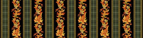Autumn Elegance By Jackie Robinson For Benartex - Black/Multi