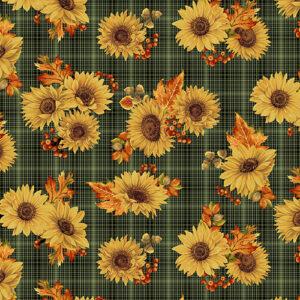 Autumn Elegance By Jackie Robinson For Benartex - Green