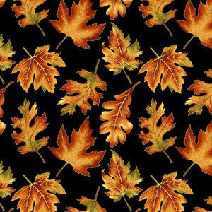 Autumn Elegance By Jackie Robinson For Benartex - Black