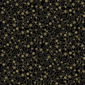 Winter Elegance By Jackie Robinson For Benartex -Black
