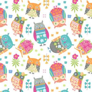 Awesome Owls By Contempo Studio For Benartex - White/Multi