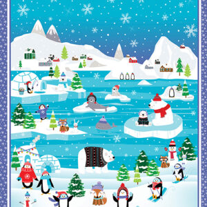 Snow Place Like Home By Kanvas Studio For Benartex - Slate - Panel