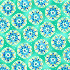 Blue Horizon By Kanvas Studio For Benartex - Light Jade