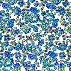 Blue Horizon By Kanvas Studio For Benartex - White