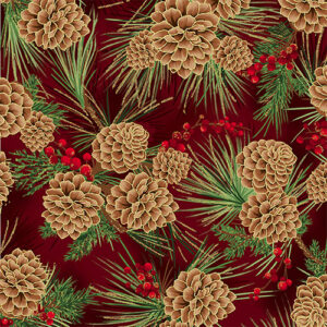 Joyful Traditions By Hoffman - Scarlet/Gold