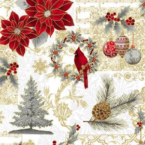 Joyful Traditions By Hoffman - Silver/Gold