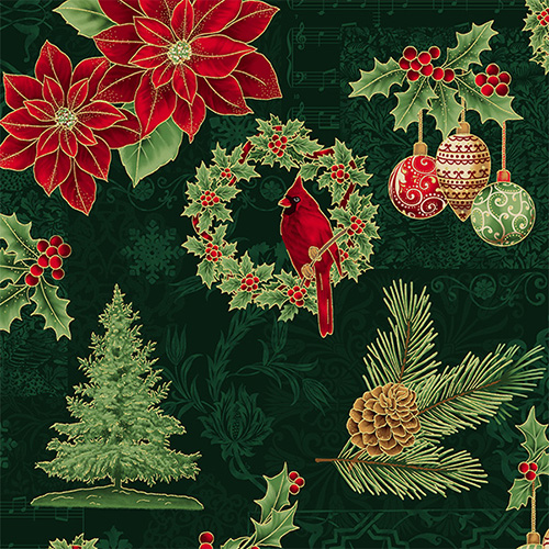 Joyful Traditions By Hoffman - Hunter/Gold