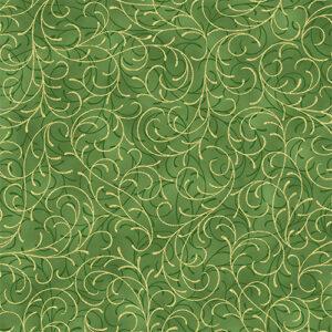 Joyful Traditions By Hoffman - Leaf/Gold