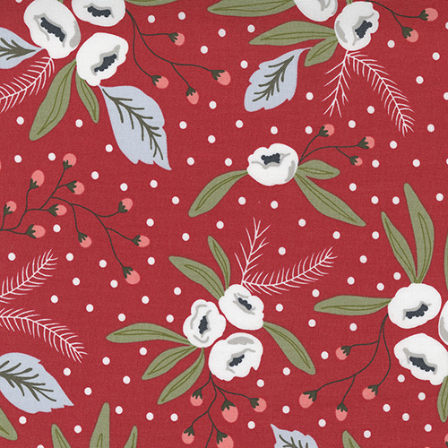 Christmas Morning By Lella Boutique For Moda - Cranberry