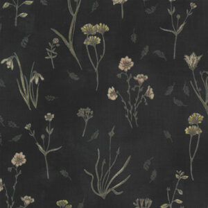 Botanicals By Janet Clare For Moda - Charcoal