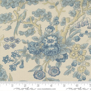 Regency Somerset Blues By Christopher Wilson Tate For Moda - Shadow White - Parma Gray