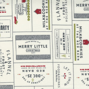 Red Barn Christmas By Sweetwater For Moda - Vanilla / Multi