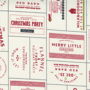 Red Barn Christmas By Sweetwater For Moda - Vanilla / Red