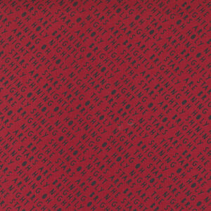 Red Barn Christmas By Sweetwater For Moda - Red/ Black