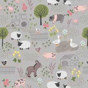 Piggy Tales By Lewis & Irene - Mid Grey