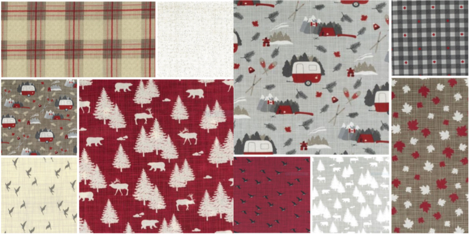 Canadian Fabric Collection True North patchwork