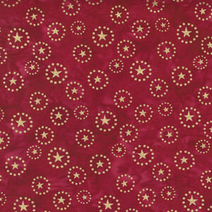Felicity Batiks By Kate Spain For Moda - Red Metallic