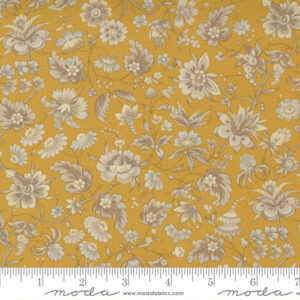 Regency Somerset Blues By Christopher Wilson Tate For Moda - India Yellow